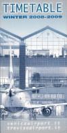 # VENICE AIRPORT TIMETABLE WINTER 2008 Leaflet Aviation Flight Horaire Flugplan Orario Indicateur Calendario Venezia - Timetables