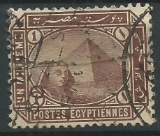 Egitto,1888/1906, 1m Brown - Nr.43a Usato° - 1866-1914 Khedivato Di Egitto