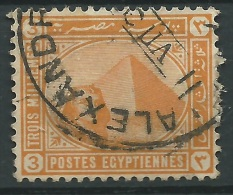 Egitto, 1888/1906 - 3m Orange - Nr.46a Usato° - Egitto