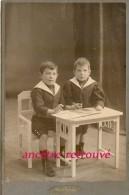 Grand CDV Identifié (CAB) Pierre Et Stéphan AUGUSTIN En 1910-en Costume Marin-photo Francis De Jongh LAUSANNE - Personnes Identifiées