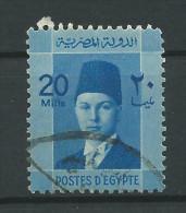 Egitto, 1937/44 - 20m King Faruk - Nr.215 Usato° - Usati