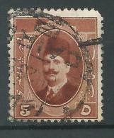 Egitto, 1923/24 - 5m King Fuad - Nr.96 Usato° - Servizio