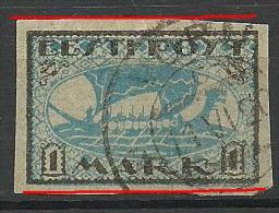 ESTLAND Estonia Estonie 1920 Wikingerschiff  Wiking Ship Michel 12  Y  Error Abart Variety - Estland