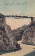CPA 63 @ Chateauneuf Les Bains @ Passerelle - Carte Rare Toilée De 1916 De L´éditeur Moignoux Faure - Andere Gemeenten