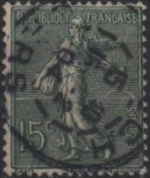FRANCE  130 (o) Type Semeuse Sur Fond Ligné De Roty Gravure De Mouchon (07) - Gebruikt