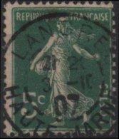 FRANCE  137 (o) Type Semeuse Sans Sol (09) Cachet Haute-Marne - Gebruikt