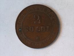 VATICAN PAPAL STATES 2 SOLDI R 10 CENT 1866 STATO PONTIFICIO MAX AN XXI - Vatican