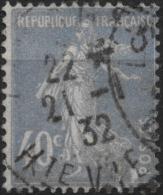 FRANCE 237a (o) Type Semeuse Sans Sol (7) Cachet 1932 HAUTE-VIENNE - Gebruikt