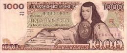 MEXIQUE  1 000 Pesos Emission De 1981   Pick 76a   ***** QUALITE  XF- ***** - Mexique