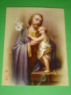 Cm.20 X 15 - S.GIUSEPPE Falegname - N°6 - 1149 - FB F.lli Bonella - Religion & Esotérisme