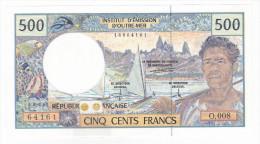 Polynésie Française - 500 FCFP - O.008 / Signatures Pouilleute-Ferman-Audren - Splendide +++ - Papeete (Polynésie Française 1914-1985)
