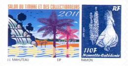 Nouvelle Caledonie Timbre Personnalise Officiel De L´OPT Pour Salon Collectionneurs Aout 2011 Neuf UNC - Non Classificati