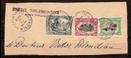 Nrs. 146 , 143 En 144 Op Fragment Brief Van CREDIT TIRLEMONTOIS Met Afstempeling THIENEN In 1921  ! Inzet Aan 15 € ! - Belgique