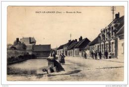 Cpa Sacy Le Grand ( 60 )  Bureau De Poste ( Animée ) Cpa60 - 1915 - Francia