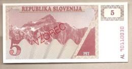 Slovenia - Banconota Non Circolata Da 5 Talleri - Specimen - - Slovenia