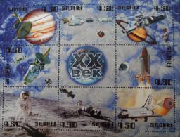 ABKAZIE - EXPLORATIONS SPATIALES DU XX EME SIECLE 11/01/1999 - NEUF ** - PH BL 330 - Géorgie