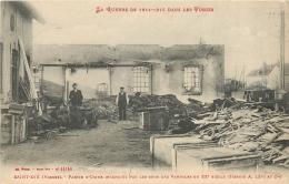 SAINT DIE USINE INCENDIEE PAR LES OBUS DES VANDALES DU 20em SIECLE - Saint Die
