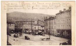 IZIEUX - La Place Du Creux Un Jour De Marché   (64126) - Other Municipalities