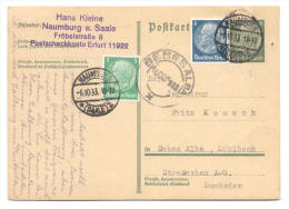 GS Mit Zusatzfrankatur 1933 Von Naumburg Nach Sebes Alba, Mühlbach, Siebenbürgen - Alemania