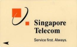 TELECARTE  SINGAPOUR  $3  SINGAPOUR TELECOM  Service First Always  Logo  ***** - Singapour