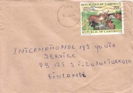 Cameroon Cameroun 1985 Edea Cattle Cow Comice Cover - Kameroen (1960-...)