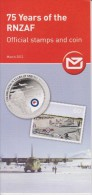 New Zealand 2012 Brochure About Stamp & Coin Royal New Zealand Air Force - Soldier - Aeroplane - Materiaal