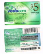 CONGO  (FRENCH CONGO)  - VODACOM (GSM RECHARGE) - $ 5    - USED   -  RIF. 502 - Congo