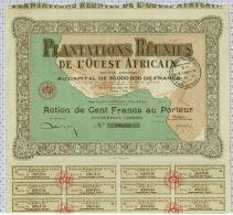 Plantations Réunies De L'Ouest Africain à Abidjan En Cote D'Ivoire - Afrique