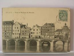77 - MEAUX - PONT ET MOULINS DU MARCHE - 1905 - Meaux
