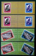 ABKAZIE - 10 ANS DES PREMIERS TIMBRES D'ABKAZIE 25/06/2003 - 4 BANDES NEUVES ** - PH 635 - Georgia