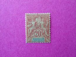 Madagascar Poste Neuf  N° 34 * Charnière  ( Lot 23 ) - Madagascar (1889-1960)