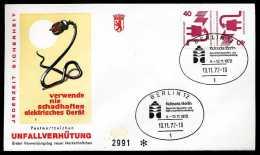 29841) BERLIN - Michel 407/407 = K 7 - FDC - 40/40Pf Unfallverhütung Kehrdruck - FDC: Briefe