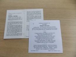 2 Doodsprentjes Koppel Albert Duyck - Germaine Harteel - Religion & Esotericism