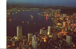 A Sparkling View Of HK From Victoria Peak At Dusk - China (Hongkong)