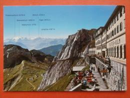31184 PC: SWITZERLAND: LU Lucerne: Hotel Pilatus Kulm 2132 M U. M. / 6995 Ft. Und Die Berner Alpen. - LU Luzern