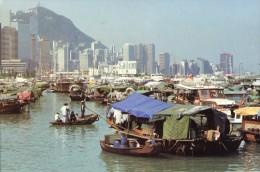 Boat People In Causeway Bay Tyfhoon Shelter - China (Hongkong)