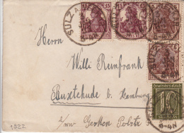 1922, LETTRE, SULZ A NECKAR Pour RUXTEHUDE HAMBURG  /5167 - Briefe U. Dokumente
