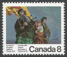 Canada. 1973 Bicentenary Of Arrival Of Scottish Settlers At Pictou, Nova Scotia. 8c MNH - 1952-.... Reign Of Elizabeth II