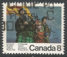 Canada. 1973 Bicentenary Of Arrival Of Scottish Settlers At Pictou, Nova Scotia. 8c Used - Used Stamps