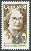 Canada. 1973 Birth Centenary Of Nellie McClung. 8c MNH - 1952-.... Reign Of Elizabeth II
