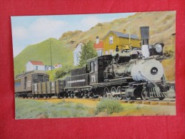Train On Exhibition Central City Colorado  Back Side Stain Left Border Not Mailed  Ref 1183 - Vereinigte Staaten