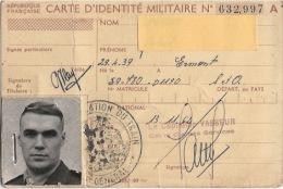 Carte Identité  MILITAIRE 1962 - Other