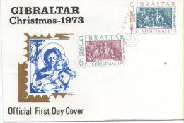 Gibraltar - Weihnachten / Christmas  1973 (FDC) - Gibraltar