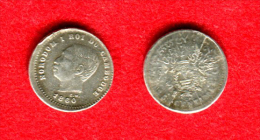COLONIES - CAMBODGE - CAMBODIA - NORODOM I - 20 CENTIMES 1860 - ARGENT - COIN FËLE - TRES RARE - 1,45Gr - Colonies