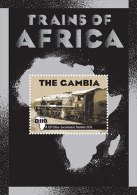 Gambia (2013) - Block -   /  Train - Trains - Railways - Locomotives - Eisenbahn - Trams -Ships - Treinen