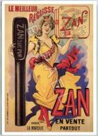 Affiche Sur Carte - Grande Affiche Publicitaire Du ´´Zan´´ Le Meilleur Réglisse (Lire Descriptif) (Recto-Verso) - Publicité