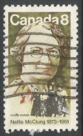 Canada. 1973 Birth Centenary Of Nellie McClung. 8c Used - Used Stamps