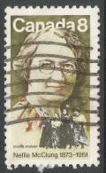 Canada. 1973 Birth Centenary Of Nellie McClung. 8c Used - 1952-.... Reign Of Elizabeth II