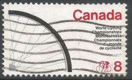 Canada. 1974 World Cycling Championships, Montreal. 8c Used - Used Stamps