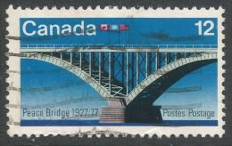 Canada. 1977 50th Anniv Of Opening Of Peace Bridge. 12c Used - 1952-.... Reign Of Elizabeth II